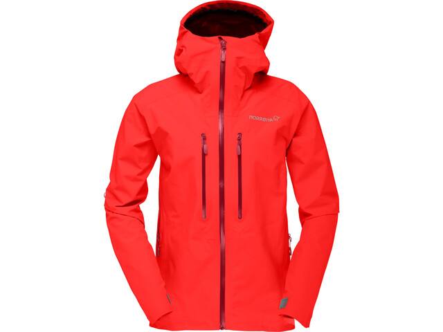 Norrøna Trollveggen Gore-Tex Light Pro Jacket Dam crimson kick